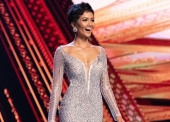 H'Hen Nie, Miss Vietnam 2018 competes on stage in an evening gown of her choice as a Top 10 finalist during The MISS UNIVERSE® Competition airing on FOX at 7:00 PM ET live/PT tape-delayed on Sunday, December 16, 2018 from the IMPACT Arena in Bangkok, Thailand. Contestants from around the globe have spent the last few weeks touring, filming, rehearsing and preparing to compete for the Miss Universe crown. HO/The Miss Universe Organization